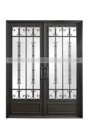 Puerta dise o antiguo muebles pinterest puertas de for Diseno puertas hierro