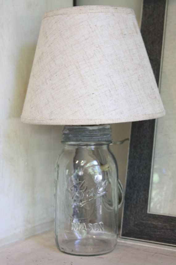 Repurposed vintage ball mason jar lamp with by mysweetsavannah, $40.00