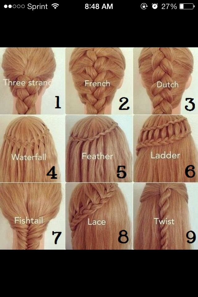 Different Types Of Braids And Their Names Hair Pinterest