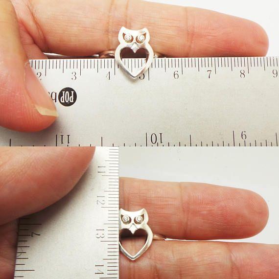 Anillo de plata esterlina Owl buho joyería joyería de aves
