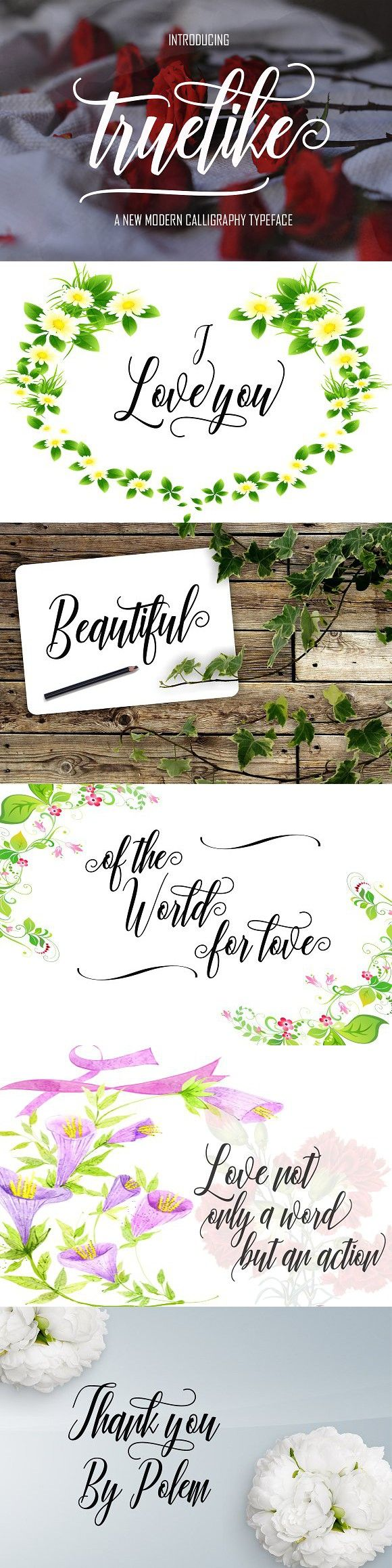 cursive fonts for wedding cards%0A Take a look at Truelike Free Script Typeface  This is an ideal typeface for  highend logotypes and magazine headlines  greeting cards  invitations   posters
