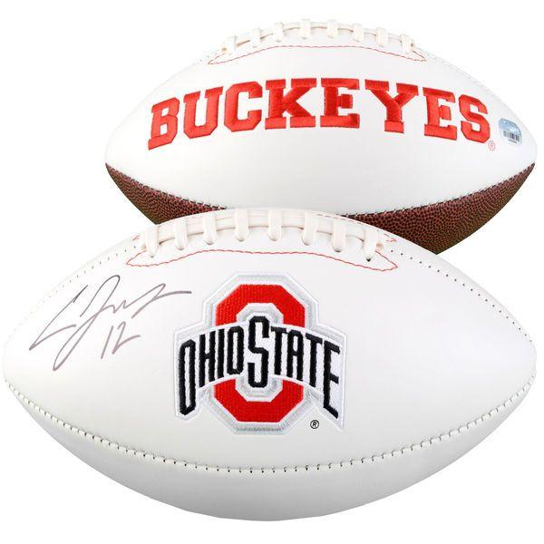 Cardale Jones Ohio State Buckeyes Fanatics Authentic Autographed White Panel Football - $129.99