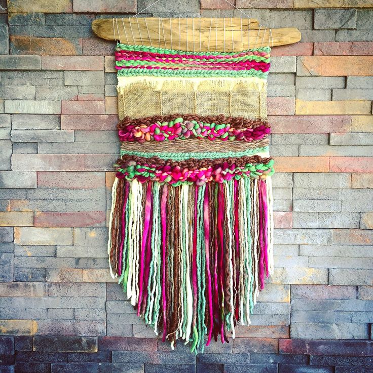 Woven wall hanging by Telaresyflecos on Etsy https://www.etsy.com/listing/287238781/woven-wall-hanging