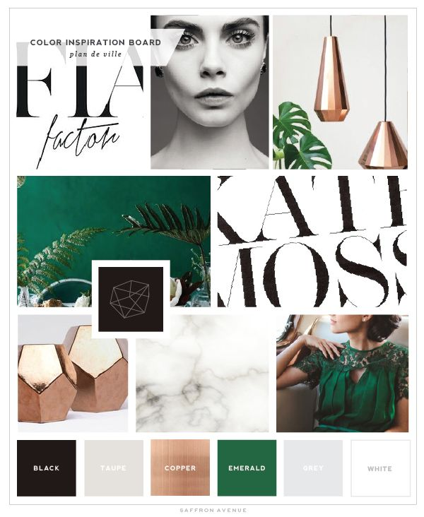 Love this inspiration board // color pallette + modern and script lettering mix More