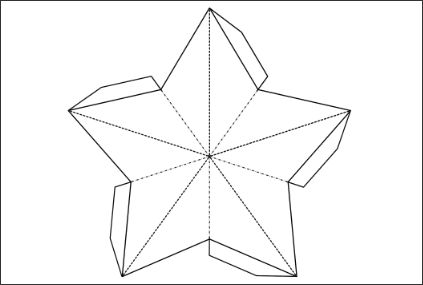 double sided 3d paper star template