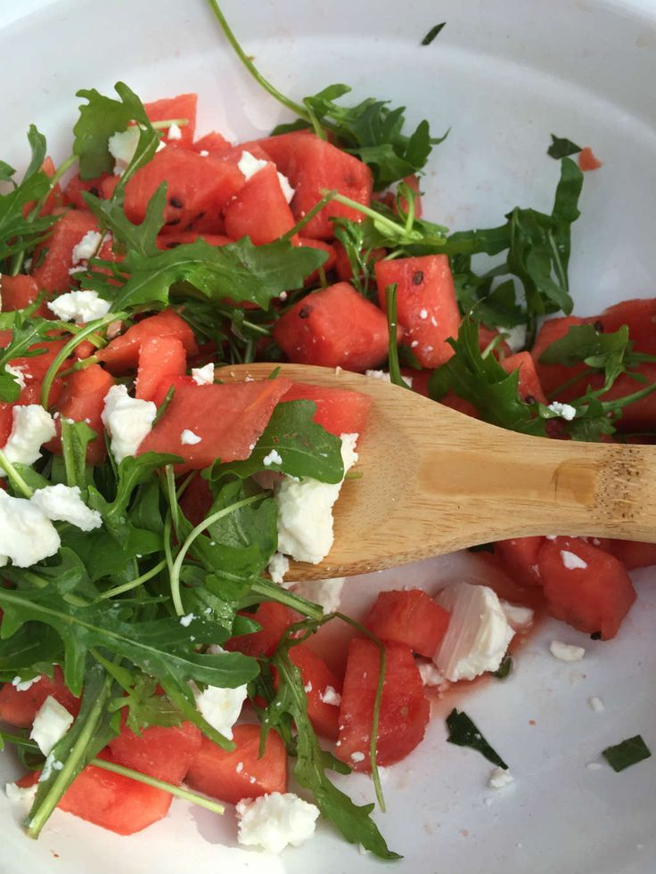 Watermeloen salade met rucola