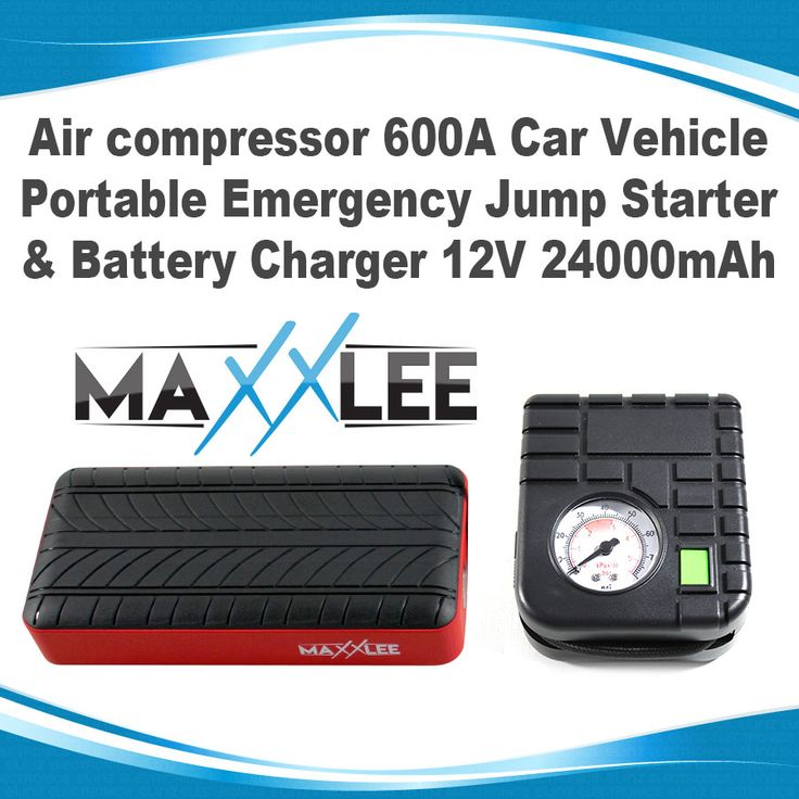600A Car Vehicle Portable Emergency Jump Starter & Battery Charger 12V 24000mAh Air Compressor