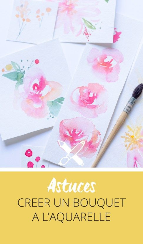 Comment créer un bouquet à l'aquarelle? Mes astuces et conseils sur le blog. Cliquez pour découvrir l'article ou enregistrez l'image pour plus tard!
