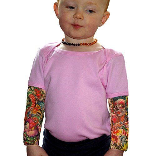 Wild Rose Baby Girls' Tattoo Sleeve Shirt, Sunflower, Pink -Cute yet edgy halloween costume for your toddler! http://www.amazon.com/dp/B00FMA83EI/ref=cm_sw_r_pi_dp_0hTewb08GYH20