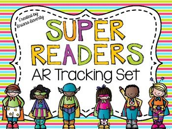 A superhero themed set to track AR...has an awesome bulletin board display for students to track their goals in! :) SO cute!
