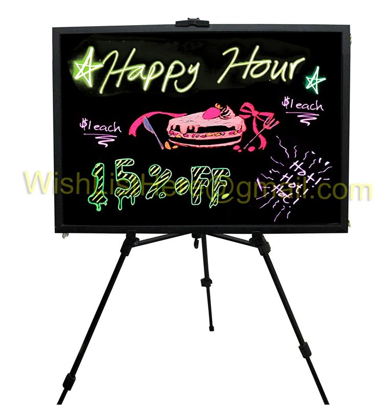 Lighted Menu Boards Framed Chalkboard Restaurant Menu Board Sign 23''x18' *** Remarkable product available now. : Home Decorative Accessories