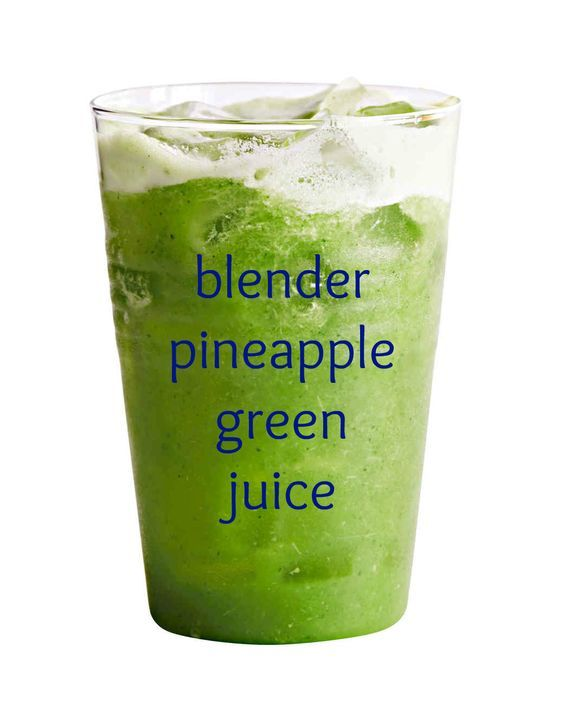 No juicer needed! This easy recipe uses a blender to make a tropical pineapple green juice.