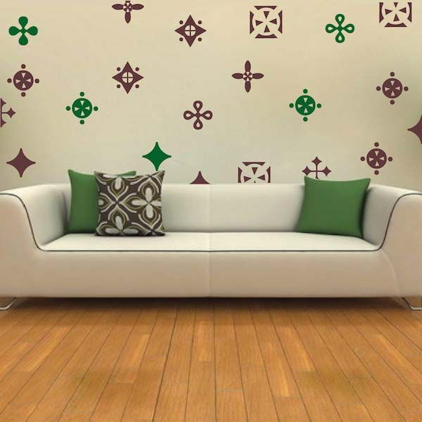 decorative design stickers wall sticks trendy wall designs