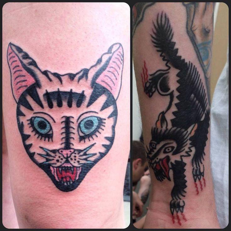 Redberry Tattoo Studio Wrocław #redberrytattoostudio #redberry #tattoowroclaw #redberrywroclaw #redberrypoland #wroclaw #amazingtattoo #toptattoo #inked #inks #poznan #opole #berlin #dresden #berlintattoo #bobrowicz #oldschool #pawelbobrowicz #kot #cat #wilk #wolf