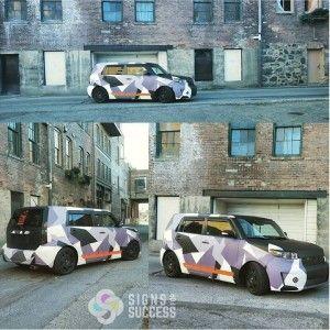 Custom Color Change Vehicle Wrap - Scion xB - http://signsforsuccess.biz/scion-xb-custom-color-change-vehicle-wrap/
