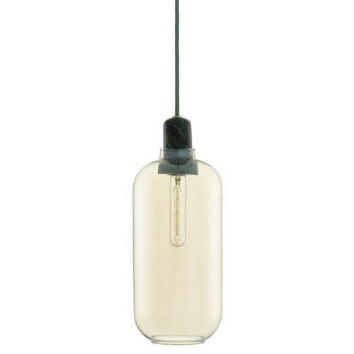 Normann Copenhagen-Amp-lampe-glas-marmor-guld-grøn
