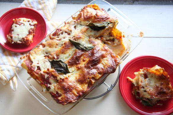 Lightened Up Summer Vegetable Lasagna by 24carrotlife #Lasagna #Light