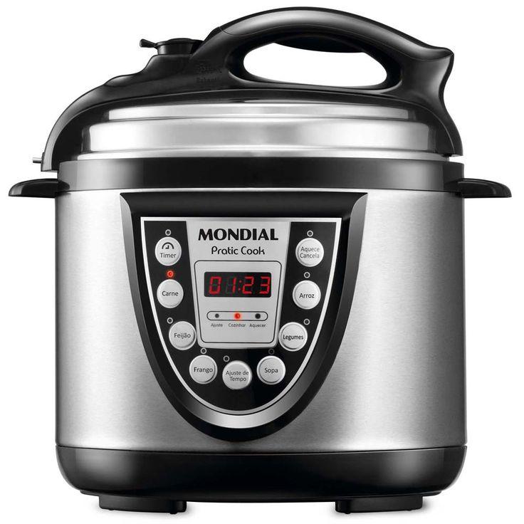 Panela Elétrica de Pressão Mondial Pratic Cook 4L PE-09 - Preto/Inox | Extra.com.br