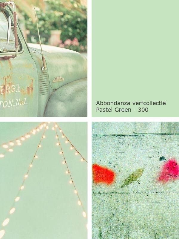 Mintgroen Abbondanza Pastel Green
