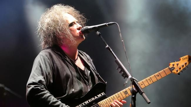 Robert Smith during The Cure's concert in Melbourne the night before their Adelaide show. Picture Yuri Kouzmin