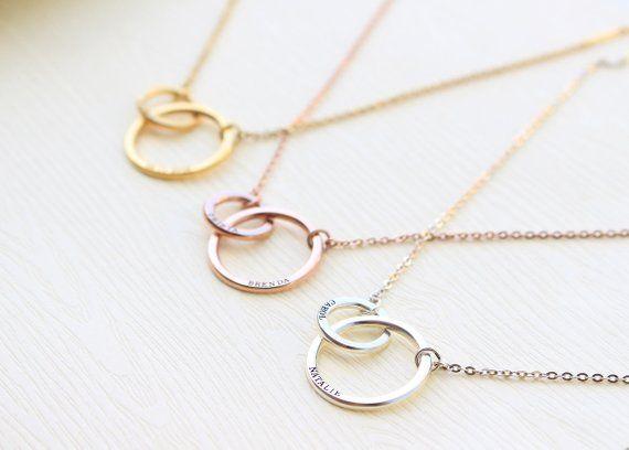 Wonderbaar Moeder en kind ketting - nieuwe moeder sieraden - unieke gift voor RY-16