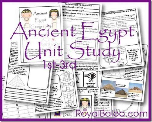 Free First-Third Grade Ancient Egypt Unit Study