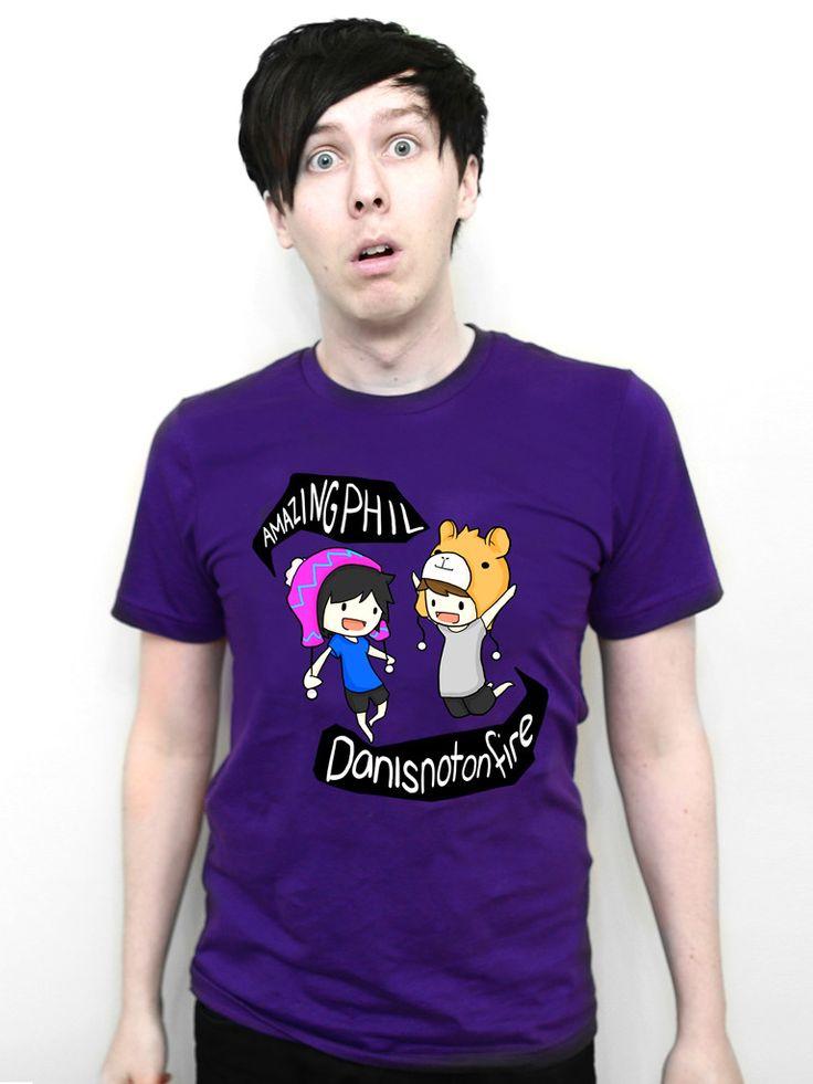 Dan and Phil Classic Design T-shirt (Purple) | Dan and Phil Shop £15.98