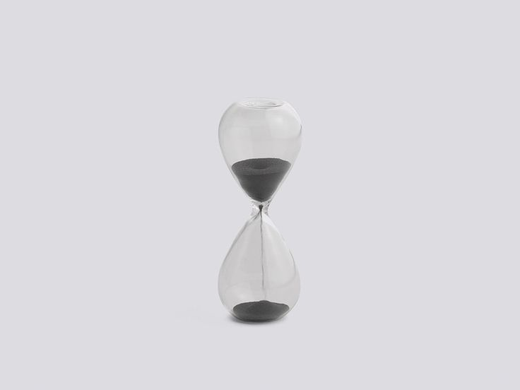 Time is an hourglass with soft, round shapes from Hay.