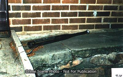 JonBenet Ramsey crime scene photo, bat found at exterior of home