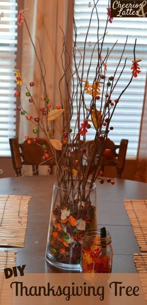 DIY Family Thanksgiving Tree DIY Fall Decor DIY Home Decor