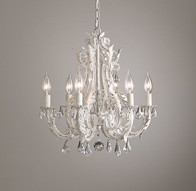 Palais Small Chandelier - Rustic White in 2019 | Master Bath ...
