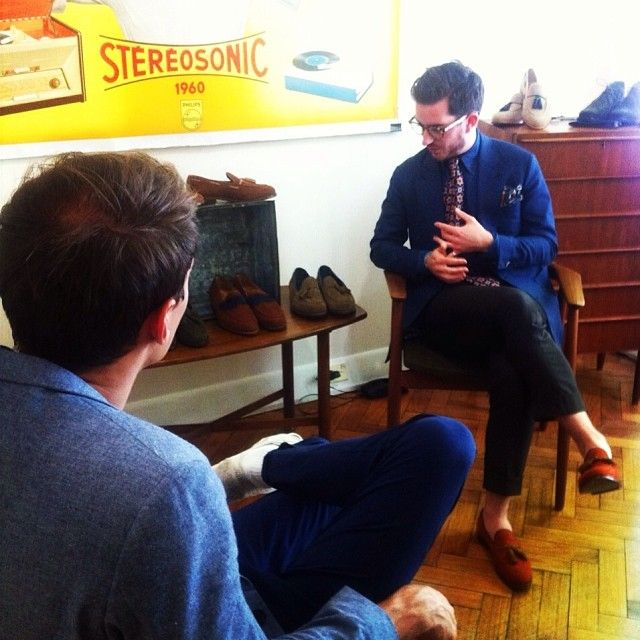 Fashion ASIA @Fashion ASIA - @Christian Kimberling and @courtneydober talk dapper shoes in #melbourne
