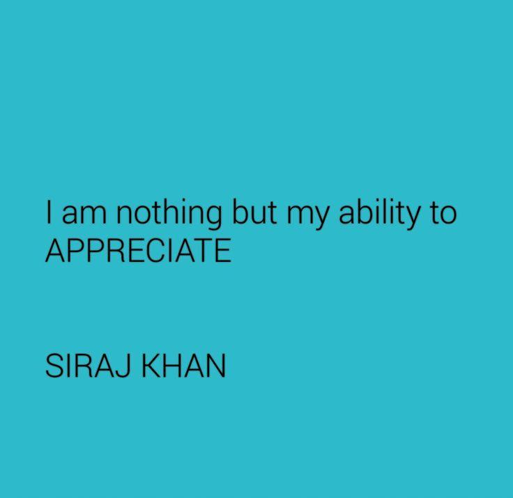 ON ABILITY TO APPRECIATE