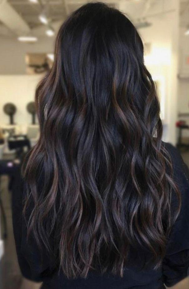 Subtle Dark Brunette Bayalage Warm Winter Brunette Brunette Hair Color Dark Brunette Hair
