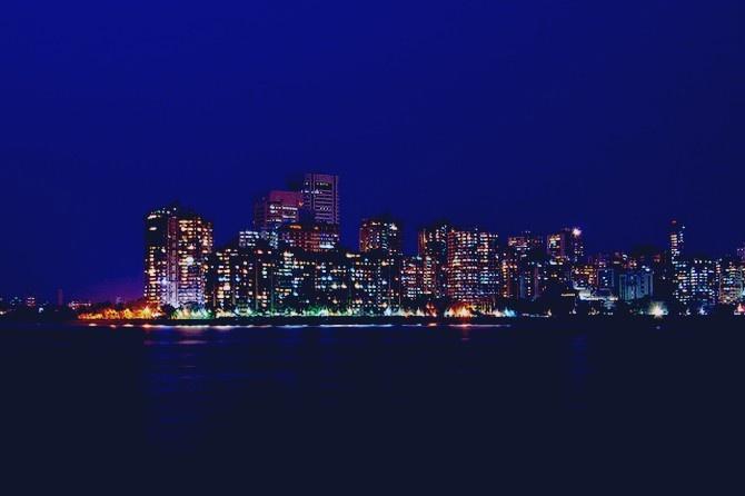 Mumbai City   in the night   India