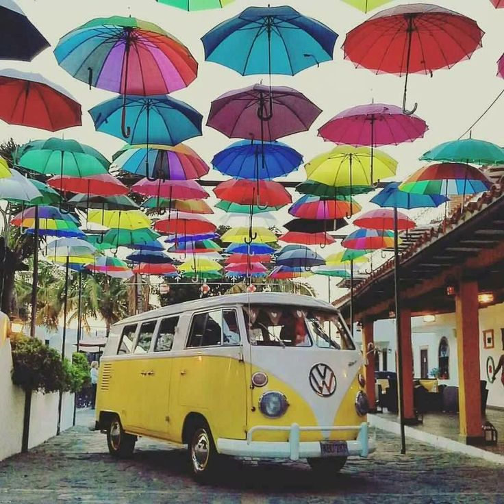 umbrellas and vw busses <3 re-pinned by https://www.facebook.com/wfpccdailyquotes