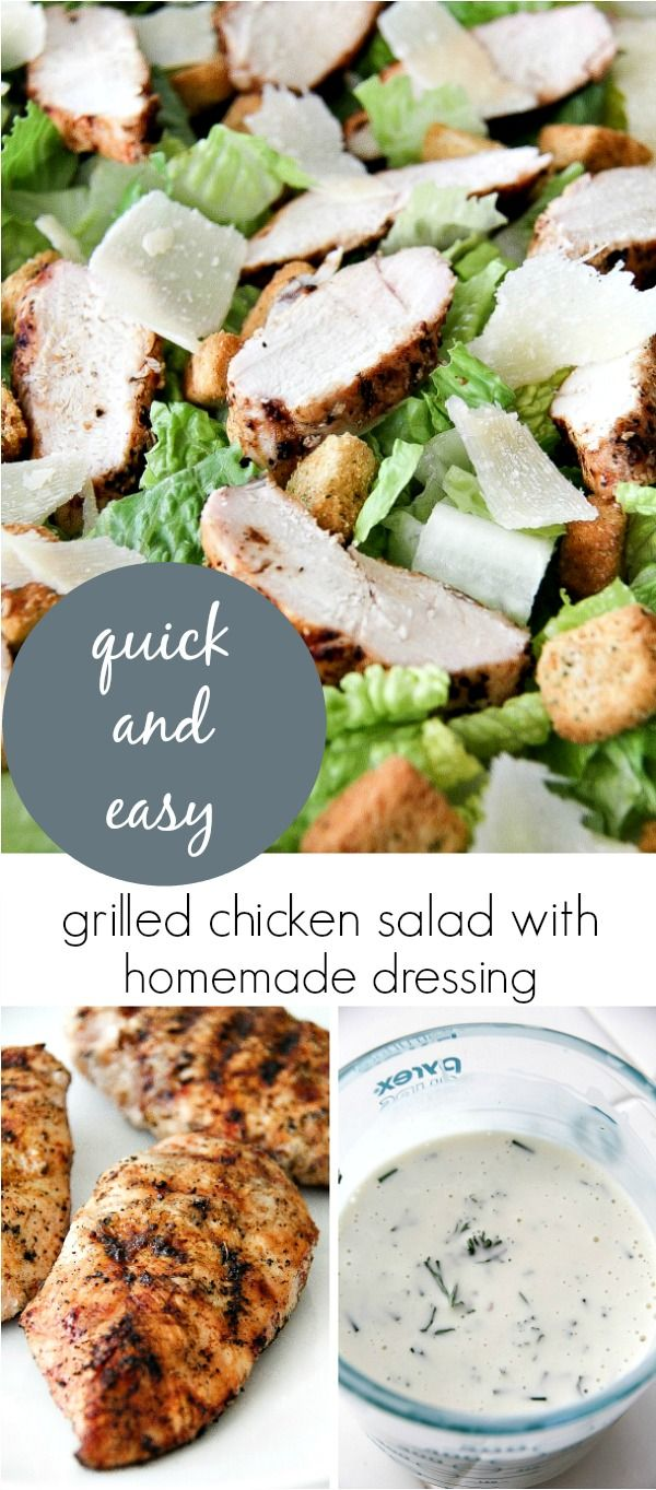 Grilled Chicken Caesar Salad with Homemade Dressing