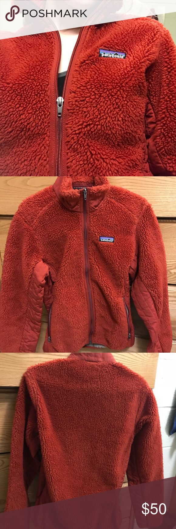 red zip up patagonia jacket!! super soft and very cute red patagonia zip up! great quality, i just sadly never wear it enough :/ it's hard putting this up for sale, but it deserves a better home!! size xs but can also fit a small. no sign of wear         sherpa, fleece, patagonia, vintage, outdoors, hiking, Patagonia Jackets & Coats