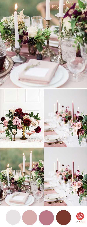 WEDDING PANTONE NEUTRAL COLOR: MARSALA IN 2018 WEDDING TRENDY - Wedding Invites Paper dusty pink wedding decorations/ mauve wedding centerpieces/ burgundy and pink wedding decorations/ rustic chic spring wedding decorations #rusticchicweddings