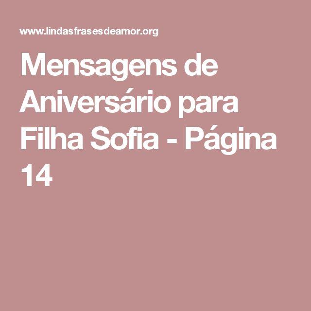 Mensagens de Aniversário para Filha Sofia - Página 14