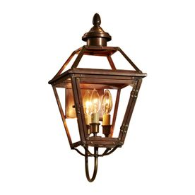 allen   roth�New Vineyard 20-1/8-in Antique Copper Outdoor Wall Light