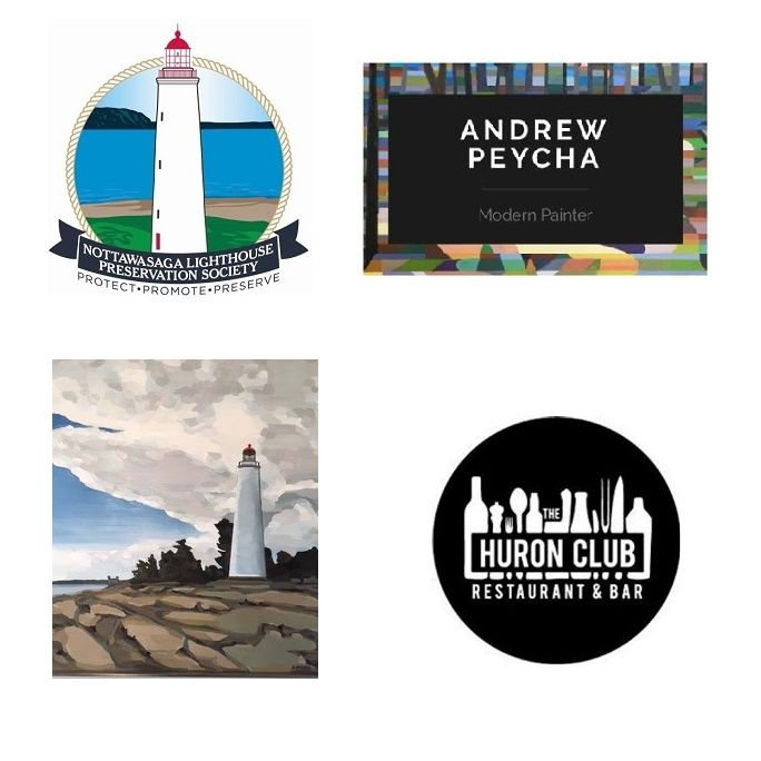 "Launch Party alert!!! Purchase a signed and numbered Peycha Print on Tuesday March 28th, 2017 between 7-9pm at the The Huron Club and be entered into a draw for a Collingwood Olive Oil Co. gift basket! Enjoy the specially crafted Georgian Bay Spirit Co. ""Lighthouse Cocktail"", munchies and great atmosphere all for a great cause!  Proceeds benefiting the Nottawasaga Lighthouse Preservation Society lighthouse restoration!  #NottawasagaLighthouse #Collingwood #RoyalLePageTrinity"