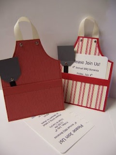BBQ Apron Invitations