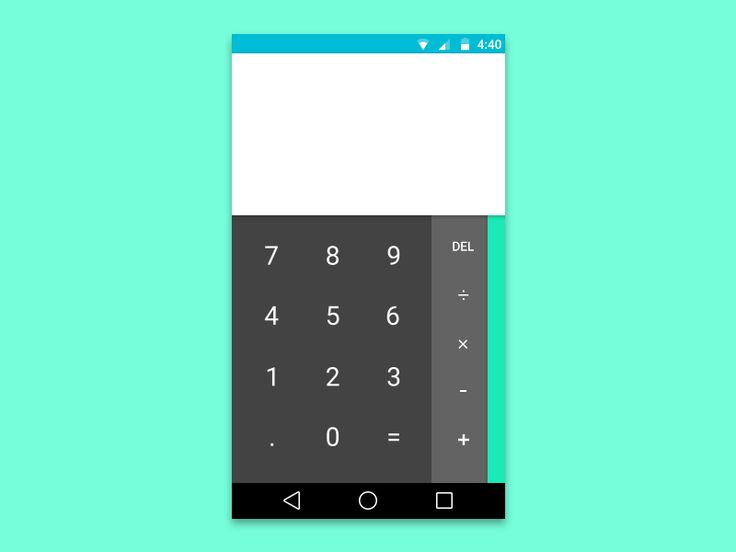 Material Calculator based on the Material Design preview on I/O and the actual interface from Android L Preview. Click @2x for a smoother view of the image. Enjoy, press L or F :)