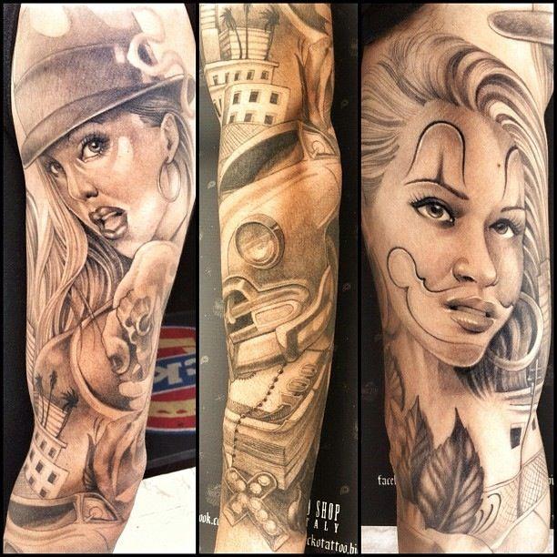 gangsta girls tattoos - photo #9