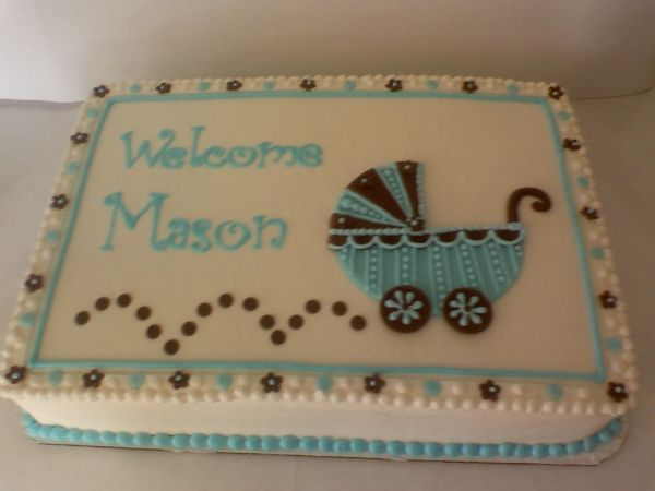 Best 25 baby shower sheet cakes ideas on pinterest for Baby boy cake decoration