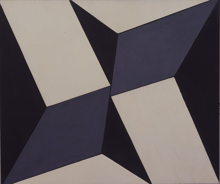 Lygia Clark, Planos em superfície modulada no. 2, versão 01 (Planes in modulated surface no. 2, version 1). c. 1957. (Photo credit: Eurides Lula Rodrigues Cardoso) Beautifully abstract, yet very solid.