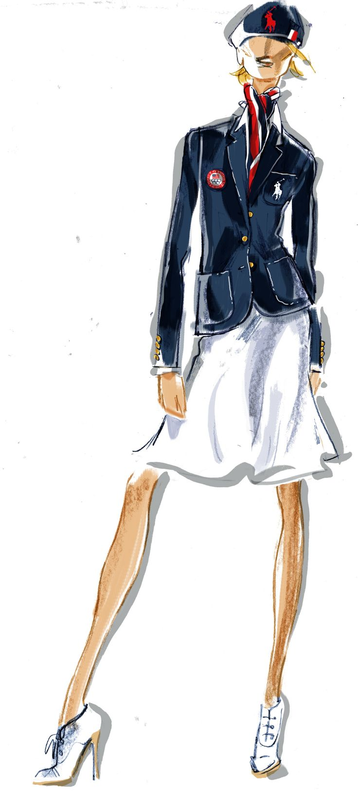 London Olympics 2012: Ralph Lauren design US Olympic team uniforms #usa #ralphlauren #olympics #londonRalph Lauren, London 2012, 2012 Olympics, Open Ceremonies, Fashion Sketches, Ralphlauren, Fashion Illustration, Team Usa, Ceremonies Uniforms