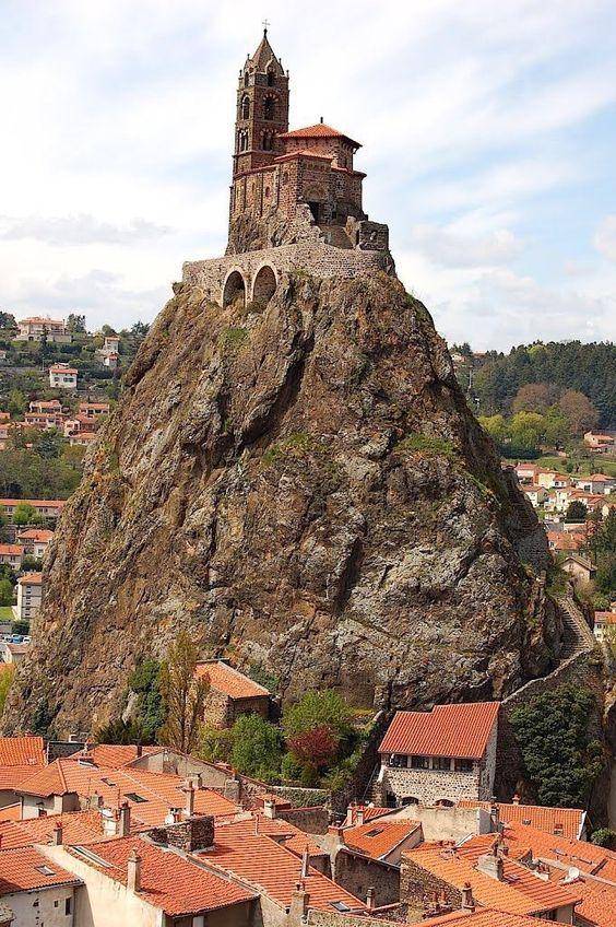 In quaint Auvergne, France.