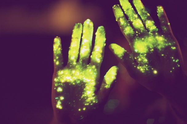 ...these hands have touched the creator of magic and there has been a mark left on them...